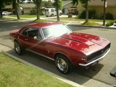 My husbends red car its a 67