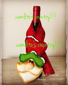 Christmas Crafts, Christmas Ornaments, Hot Sauce Bottles, Holiday Decor, Sewing, Scrappy Quilts, Christmas Napkins, Bottle Rack, Pot Holders
