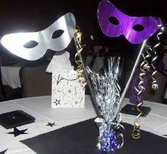 Homemade mask centrepiece