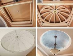 Create the illusion of grandeur in an entryway with the Arch Kit faux dome ceiling available at Home Depot.
