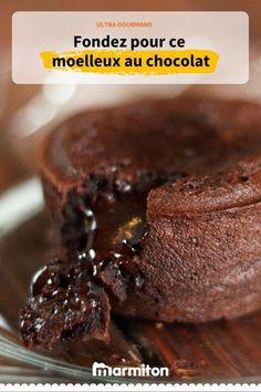 Un moelleux au chocolat absolument exquis, il n'y a rien de mieux pour clôturer le repas #marmiton #recettemarmiton #recette #cuisine #chocolat #recettechocolat #moelleuxchocolat #recettemoelleux #gouter #dessert