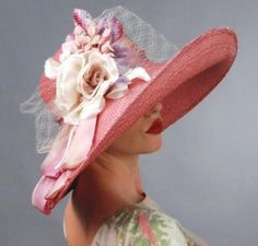 I would love this louise green blushed rose hat for Rose Hat, Tea Party Hats, Maxi Robes, Kentucky Derby Hats, Romantic Outfit, Fancy Hats, Wearing A Hat, Red Hats, Hats For Women