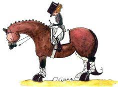 Dana's Doodles - Bay Dressage Horse Print, $9.99 (http://www.danasdoodles.com/bay-dressage-horse-print/)