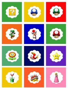Free Super Mario cupcake toppers