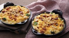 Take normal mac and cheese to the next level with steamed broccoli, crispy bacon and Gouda and cheddar cheeses.