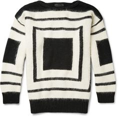 Alexander McQueen Geometric Patterned Wool Sweater on shopstyle.com