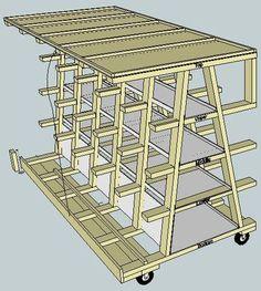 Virtual Designs in Sketchup #5: Rolling Wood Storage Rack - by rance @ LumberJocks.com ~ woodworking community