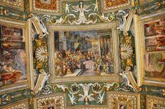 Strop z Galerie map. Vatikánská muzea