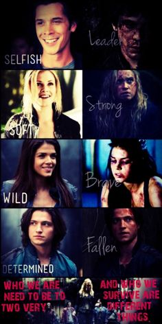 """i've never seen a show do character development so well... // The 100 // Bellamy, Clarke, Octavia, Finn // """"Who we are, and what we need to be to survive, are two different things."""""""