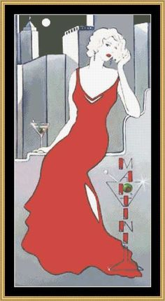 La Dame En Rouge  by Janet Kruskamp [JK-05] - 16.00 : Mystic Stitch Inc, The fine art of counted cross stitch patterns