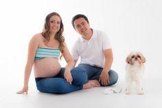 Pequeno dog ensaio gestante  www.leaostudio.com.br