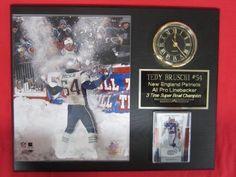 Tedy Bruschi New England Patriots Plaques