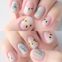 Soft colours, simple floral patterns