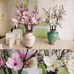 High quality Decor Restaurant Plant Silk Flowers Magnolia Home Garden