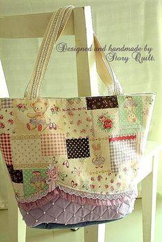 Elegant tote bag 2. by STORY QUILT, via Flickr