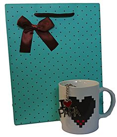 Christmas Gift Set for Dads  Colour Changing Coffee Mug and I Love Papa Key Chain -- Find out more about the great product at the image link.