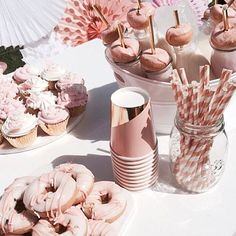 Monochromatic Theme Party For A Little Girl Turning Two Harlowandgrey 18th Birthday Ideas DecorationRose Gold