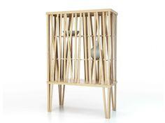 Módulo de arrumação de madeira MIKADO by Porro | design FRONT