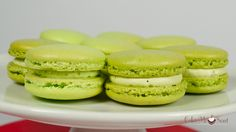 Green tea and pistachio french macarons