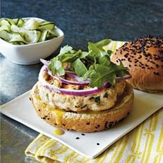 Salmon Burgers | CookingLight.com
