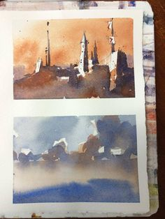 Iain Stewart Watercolors Today's demos in Orange, CA...Rue St. Jacques, Paris and the morning demo on saved whites and sky.