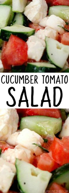 CUCUMBER AND TOMATO SALAD #salad #tomato #cucumber #glutenfree #paleo
