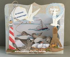 Marianne Design Clear Stamp Set Hetty's Playful Seals-Marianne Design Clear Stamp Set Hetty's Playful Seals Very cute seals handdrawn by Hetty. Perfect for water and nautical cards and layouts. Pop Up, Cute Seals, Nautical Cards, Exploding Boxes, Marianne Design, Masculine Cards, Box Design, Clear Stamps, Three Dimensional