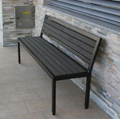 WPC Bench are made with the recycled high density polyethylene plastic and rice hulls