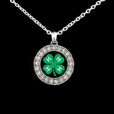 4H Charm Necklace by SassyGirlsX3 on Etsy, $10.95