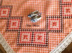 Nina Maria ❤️ bordado no tecido xadrez