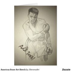 American Boxer Art Sketch