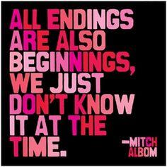 "Albom: ""All endings are beginnings…"""