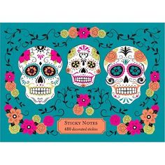 Sugar Skull Sticky Note Set- Leave a fun note in your little one's lunch!