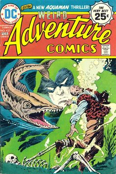 Adventure Comics #437 (1975). Cover art: Jim Aparo. The Best UNDERWATER Comic Book Covers - A collection of some of the top underwater comic book covers ever created.