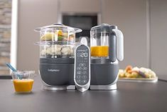 The Babymoov Nutribaby+ Food Processor UK Plug - Industrial Grey can sterilise bottles, steams, blends, defrosts and re-heats. Baby Cooking, Cooking Time, Baby Puree Recipes, Baby Food Recipes, Healthy Meals To Cook, Healthy Cooking, Mixer, Smoothie Makers, Bottle Warmer