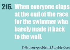 just watched a high school guy swim the 500free in over 8min...painful!