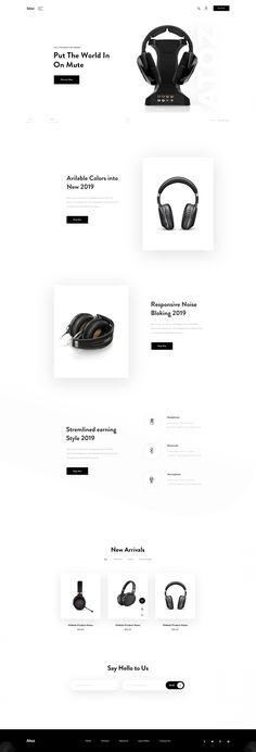 headphone-landing-page. Design Your Own Website, Website Designs, Design Set, App Design, Graphic Design Branding, Logo Design, Product Website, Communication, Portfolio Website Design