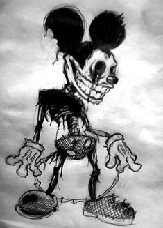 scary drawings Creepy Mouse (without edition) by Luckryu on DeviantArt Creepy Sketches, Creepy Drawings, Dark Art Drawings, Halloween Drawings, Halloween Art, Art Sketches, Creepy Paintings, Preschool Halloween, Whimsical Halloween