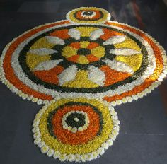 Diwali festival..flower rangoli..happy colours...makes lovely design