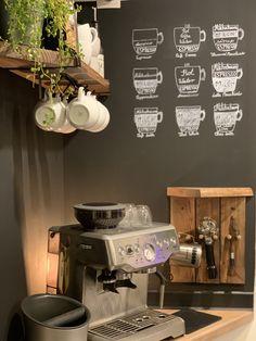 Small Coffee Shop, Coffee Bar Home, Home Coffee Stations, Coffee Bars, Coffee Corner, Coffee Love, Renovation Budget, Caffeine Addiction, Lokal