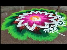 Easy Rangoli Designs Diwali, Diwali Rangoli, Simple Rangoli, Ganpati Festival, Festival Rangoli, Ganesh, Facebook, Youtube, Art