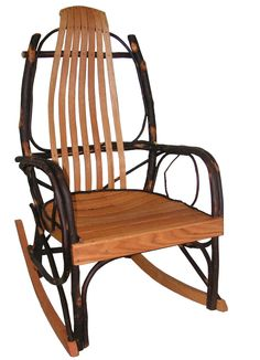 """Amish Rustic Hickory and Oak Rocking Chair (QUICK SHIP) """"SALE"""" - looks a little wide???"""