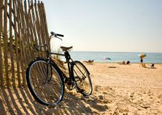 To be only a bike ride away from the beach is my dream come true.
