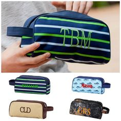 e230cb17b1dc Personalized Mens Boys Toiletry Bag Travel Pouch