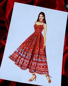 Dress Design Sketches, Fashion Design Sketchbook, Fashion Design Drawings, Fashion Sketches, Fashion Illustration Dresses, Fashion Illustrations, Awesome Art, Cool Art, Sketchbooks