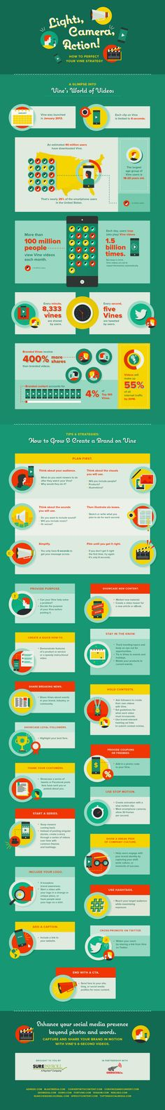 Lights, Camera, Action! How to Perfect Your Vine Strategy #infographic #Vine #SocialMedia
