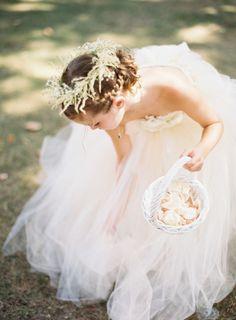 Fluffy flower girl dress: http://www.stylemepretty.com/2015/05/08/whimsical-new-york-inn-wedding/ | Photography: Judy Pak - http://judypak.com/