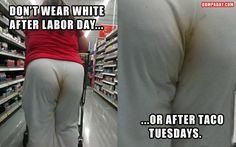 wearing white....