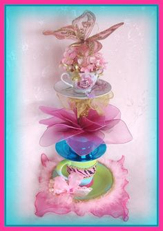 Gorgeous Tea Cup Tower Centerpiece