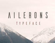 """Consulta este proyecto @Behance: """"Ailerons Typeface"""" https://www.behance.net/gallery/25541553/Ailerons-Typeface"""